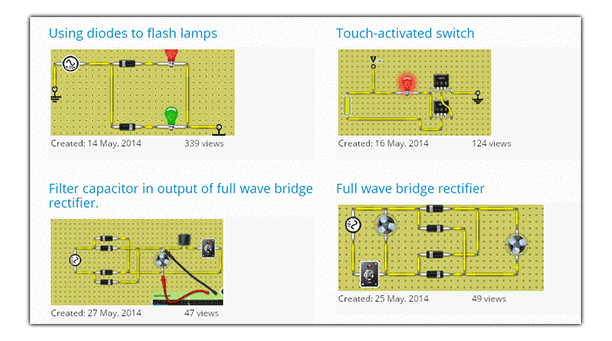 Build circuits with various components